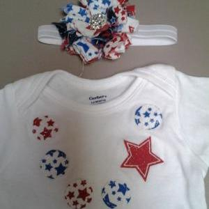 Sale! Fourth of July applique neckl..