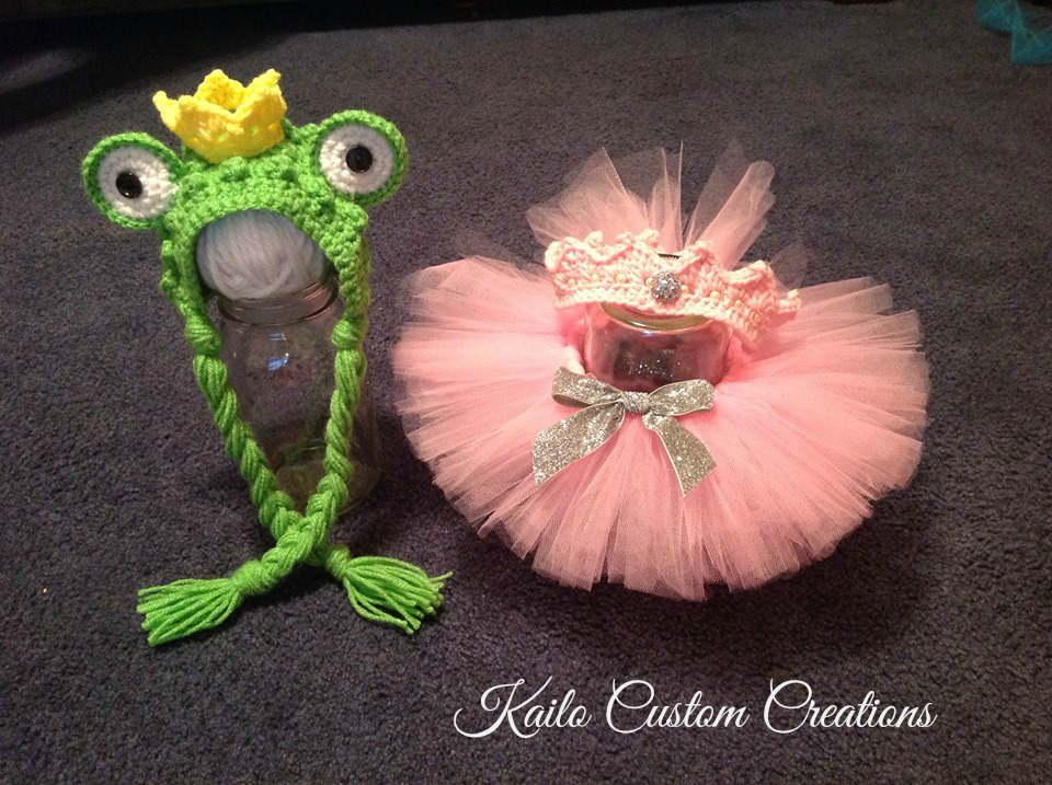 Frog Prince u0026 Princess bonnet crown and tutu newborn baby twin boy girl photo prop & SALE! Frog Prince u0026 Princess Bonnet Crown And Tutu Newborn Baby ...